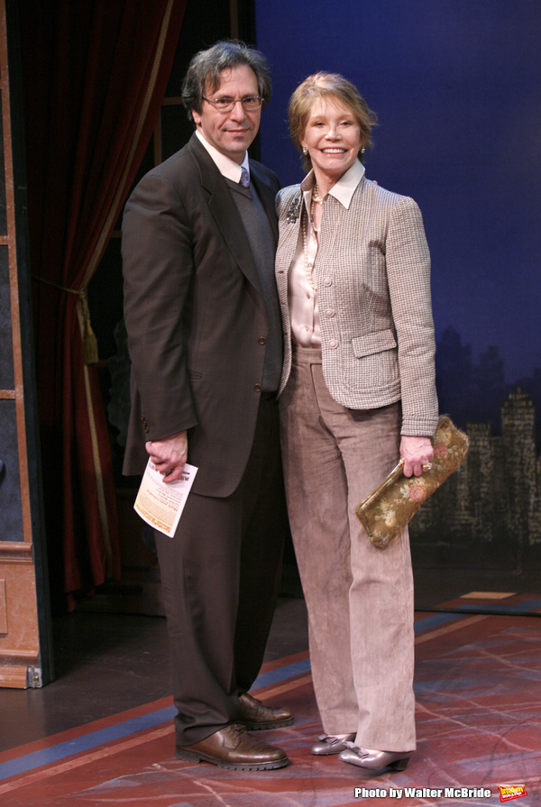 "***EXCLUSIVE COVERAGE*** Mary Tyler Moore visits the cast of ""Enter Laughing"" at the York Theatre Company in New York City. February 26, 2009 pictured: Mary Tyler Moore & husband Dr. Robert Levine"