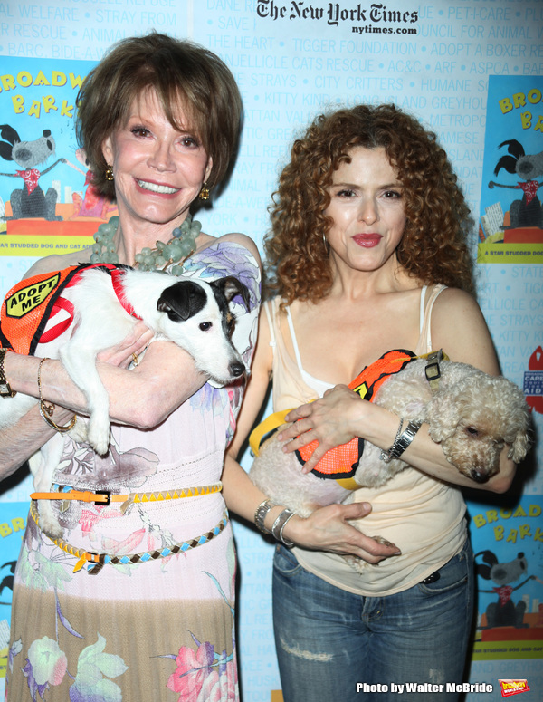 Mary Tyler Moore & Bernadette Peters attending A Star-Studded Dog and Cat Adopt-A-Tho Photo