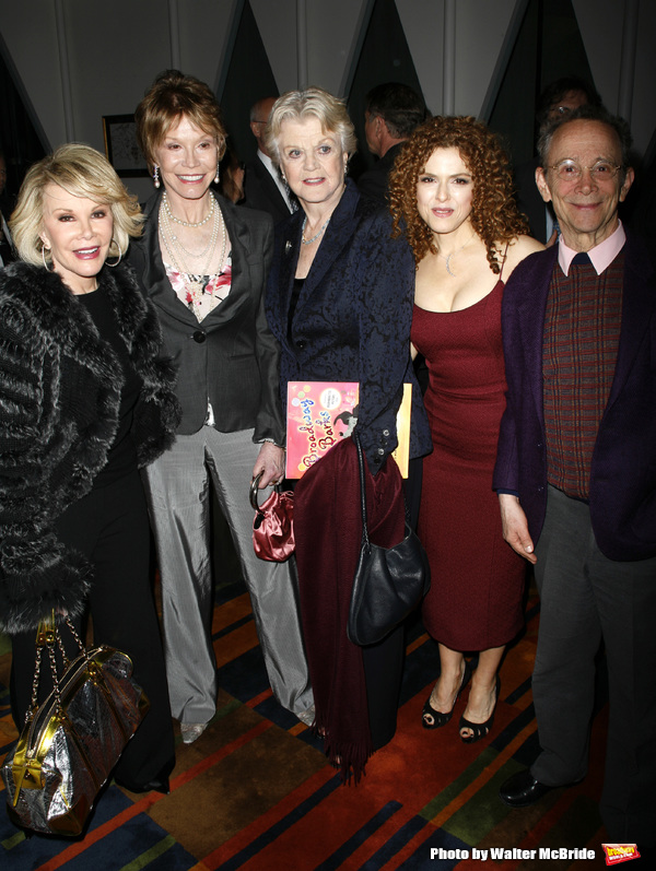 Joan Rivers & Mary Tyler moore & Angela Lansbury & Bernadette Peters & Joel Grey attending the book Party for the debut release of Bernadette Peter's BROADWAY BARKS at Le Cirque Restaurant in New York City. May 12, 2008
