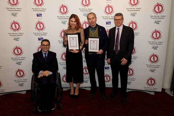 Photo Flash: Anthony Boyle, John Tiffany, Billie Piper and More at the Critics' Circle Theatre Awards 2016