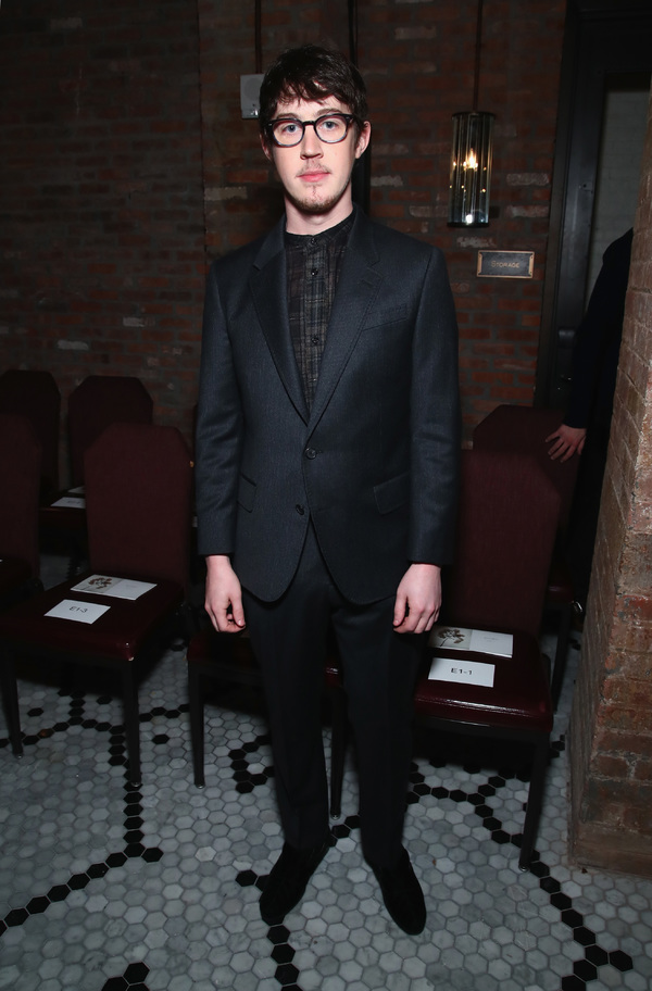 NEW YORK, NY - JANUARY 30:  Actor Alex Sharp attends the Billy Reid Autumn/Winter 2017 show at The Cellar at The Beekman on January 30, 2017 in New York City.  (Photo by Astrid Stawiarz/Getty Images for Billy Reid)