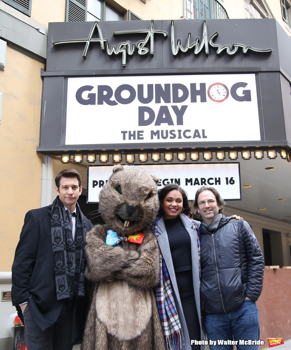 FREEZE FRAME: Andy Karl, Mr. Groundhog and More Celebrate GROUNDHOG DAY Box Office Opening