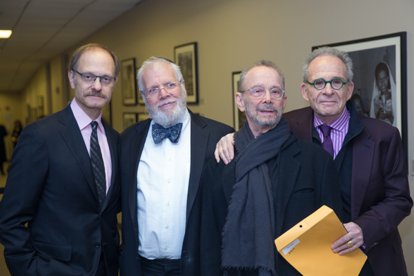 David Hyde Pierce, Zalmen Mlotek, Joel Grey and Ron Rifkin