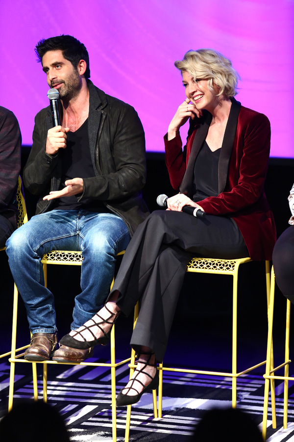 """ATLANTA, GA - FEBRUARY 03:  (L-R) Actors Stephen Schneider and Jenna Elfman speak on stage during Q&A for """"Imaginary Mary"""" on Day Two of aTVfest 2017 presented by SCAD at SCADshow Greenroom on February 3, 2017 in Atlanta, Georgia.  (Photo by Astrid Stawia"""