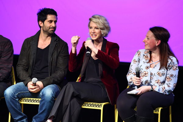 """ATLANTA, GA - FEBRUARY 03:  (L-R) Actor Stephen Schneider, actress Jenna Elfman, and moderator Kim Roots, of TV Line,  speak on stage during Q&A for """"Imaginary Mary"""" on Day Two of aTVfest 2017 presented by SCAD at SCADshow Greenroom on February 3, 2017 in"""