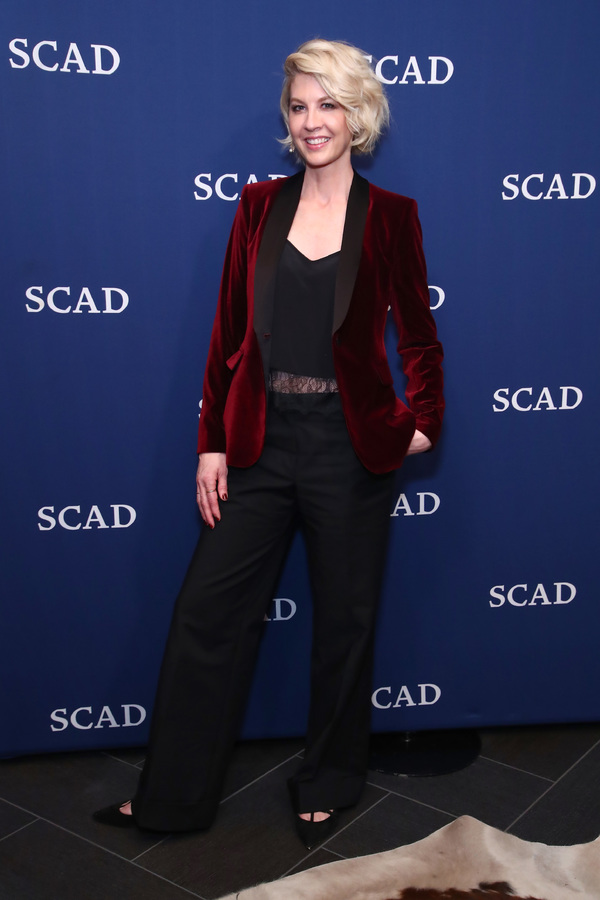 ATLANTA, GA - FEBRUARY 03:  Jenna Elfman attends her Spotlight Award Photo Opp on Day Two of aTVfest 2017 presented by SCAD at SCADshow Greenroom on February 3, 2017 in Atlanta, Georgia.  (Photo by Astrid Stawiarz/Getty Images for SCAD)