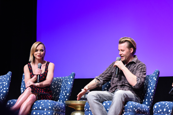 ATLANTA, GA - FEBRUARY 04:  Executive Producer Christina Ricci and Actor David Hoflin speak during a Q&A for 'Z' on Day Three of the aTVfest 2017 presented by SCAD at SCADshow on February 4, 2017 in Atlanta, Georgia.  (Photo by Vivien Killilea/Getty Image