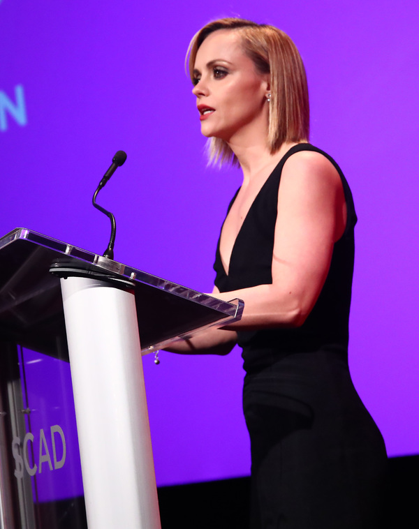 ATLANTA, GA - FEBRUARY 04:  Actress Christina Ricci accepts her Vanguard Award on Day Three of aTVfest 2017 presented by SCAD at SCADshow on February 4, 2017 in Atlanta, Georgia.  (Photo by Astrid Stawiarz/Getty Images for SCAD)