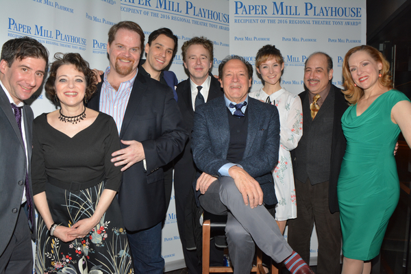 Don Stephenson and Ken Ludwig with the cast-David Josefsberg, Judy Bazer, John Treacy Egan, Ryan Silverman, Jill Paice, Michael Kostroff and Donna English