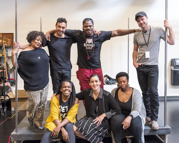 (top row) cast members Carla Renata, Wade Allain-Marcus, Marcus Henderson and Mark Jude Sullivan; (bottom row) playwright/cast member Ngozi Anyanwu, director Patricia McGregor and cast member Omoz Idehenre