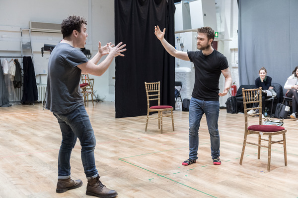 Photo Flash: Daniel Radcliffe, Joshua McGuire and More in Rehearsal for ROSENCRANTZ AND GUILDENSTERN ARE DEAD at the Old Vic