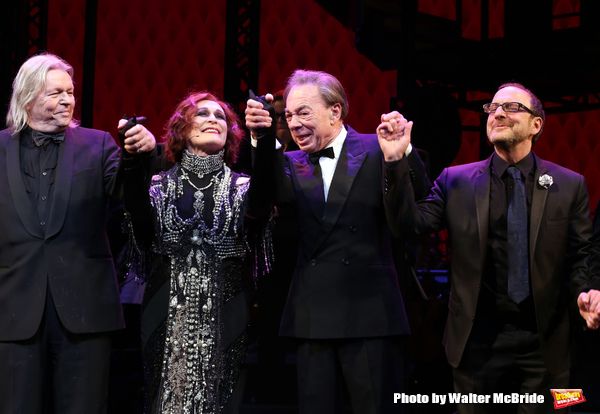 Christopher Hampton, Glenn Close, Andrew Lloyd Webber and Lonny Price