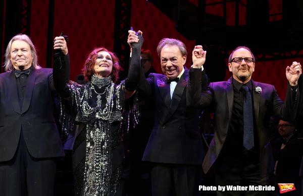 Christopher Hampton, Glenn Close, Andrew Lloyd Webber and Lonny Price