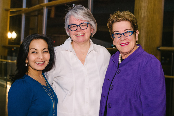 Arena Stage Deputy Artistic Director Seema Sueko, director Jackie Maxwell and Arena Stage Artistic Director Molly Smith