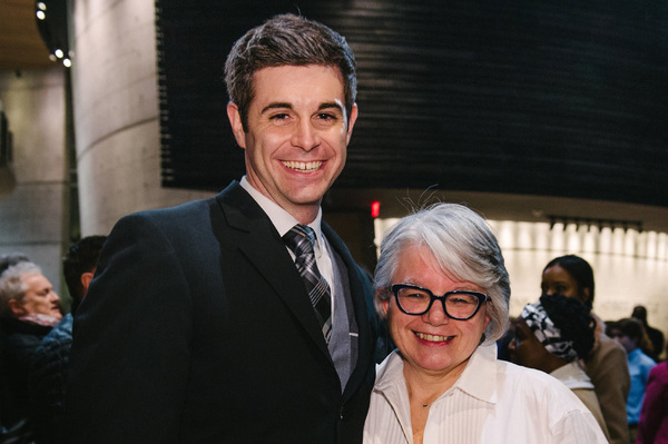 Thomas Keegan (David Farrelly) and director Jackie Maxwell