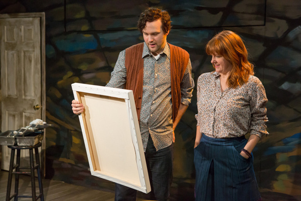 Lee Seymour & Nancy Nagrant in the 25th anniversary revival of Donald Margulies' SIGHT UNSEEN. Photo by Hunter Canning.