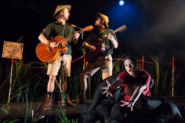 Sebastian Beacon, Adam Weppler and Dominique Salerno in PUSSY SLUDGE, part of Sanctua Photo