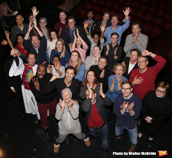 Director Lonny Price, Michael Xavier, Glenn Close, Siobhan Dillon, Fred Johanson and cast