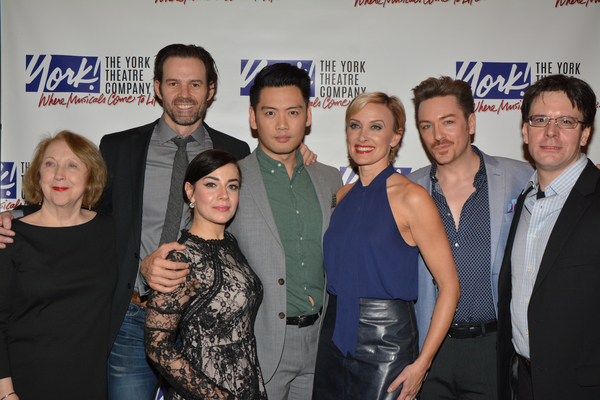 Pamela Hunt (Director) and Eric Svejcar (Musical Director) with the cast-Michael Halling, Meghan Picerno, Karl Joseph Co, Rachel de Benedet and Brian Charles Rooney