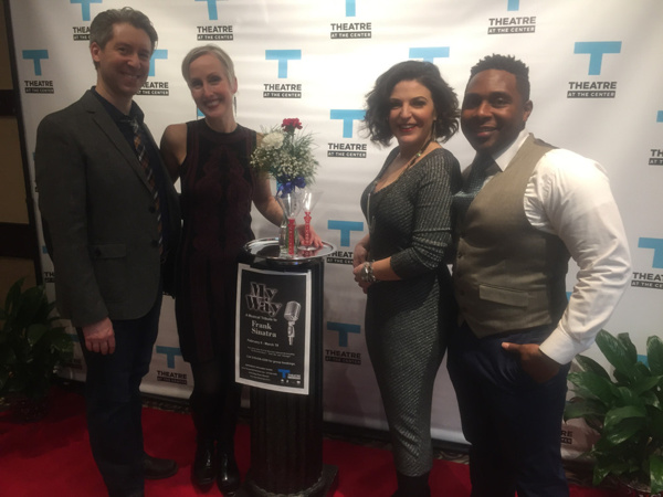 Show sponsor Pat Binkley (second from right) walks the red carpet with cast and director and choreographer Brenda Didler (third from left) for the Opening Night of MY WAY: A MUSICAL TRIBUTE TO FRANK SINATRA at Theatre at the Center.