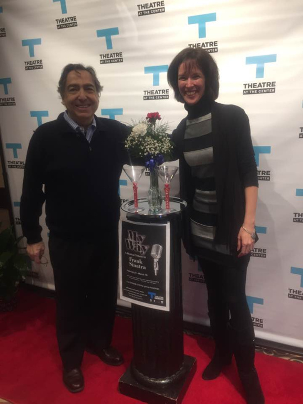 Theatre at the Center Artistic Director Emeritus William Pullinsi is joined by colleague and friend Linda Fortunato, Theatre at the Center's artistic director, for the 2017 Season, walking the red carpet for the Opening Night of MY WAY: A MUSICAL TR
