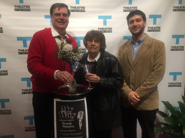 Opening Night Red Carpet for MY WAY: A MUSICAL TRIBUTE TO FRANK SINATRA at Theatre at the Center with Phil Potempa and special guests like Peggy Potempa and Johan Castaneda among those in the packed audience.
