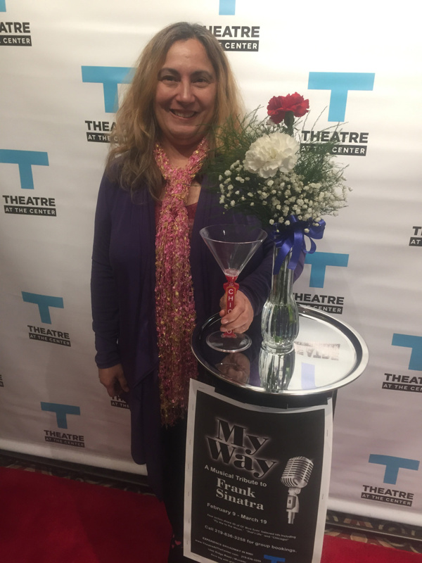 Times Columnist Eloise Valadez walking the red carpet for the Opening Night of MY WAY: A MUSICAL TRIBUTE TO FRANK SINATRA.