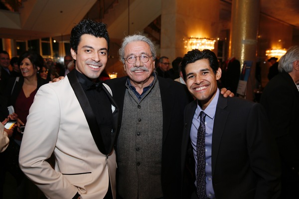Cast member Matias Ponce, actor Edward James Olmos and cast member Andres Ortiz