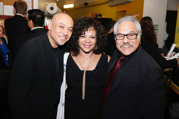Associate director Kinan Valdez, choreographer Maria Torres and writer/director Luis Valdez