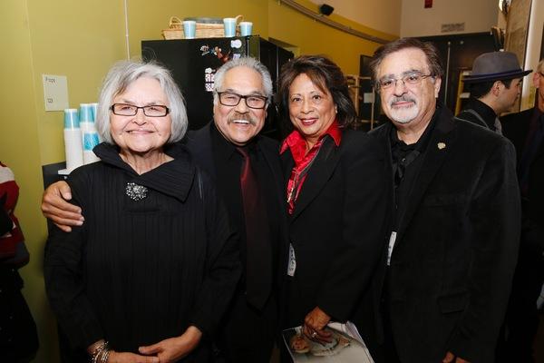 Lupe Valdez, writer/director Luis Valdez, El Teatro Campesino board members Marilyn Abad-Cardinalli and Joe Cardinalli