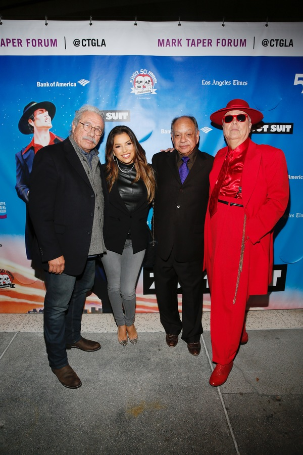 Actors Edward James Olmos, Eva Longoria, Cheech Marin and Daniel Guerrero