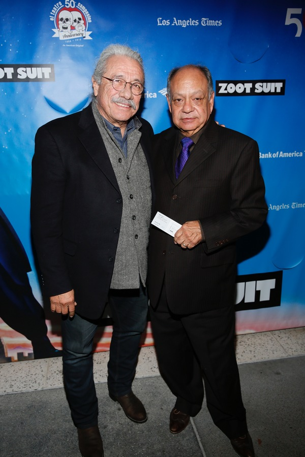 Actors Edward James Olmos and Cheech Marin