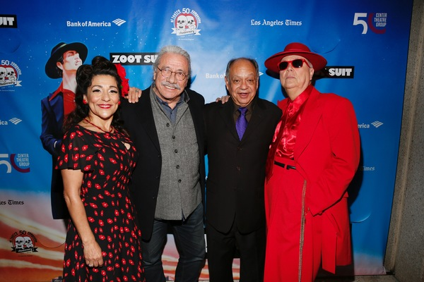 Linda Lopez, actors Edward James Olmos, Cheech Marin and Daniel Guerrero