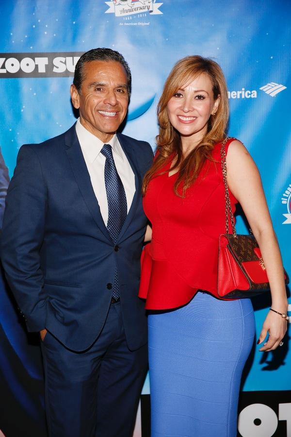 Former Los Angeles Mayor Antonio Villaraigosa and guest