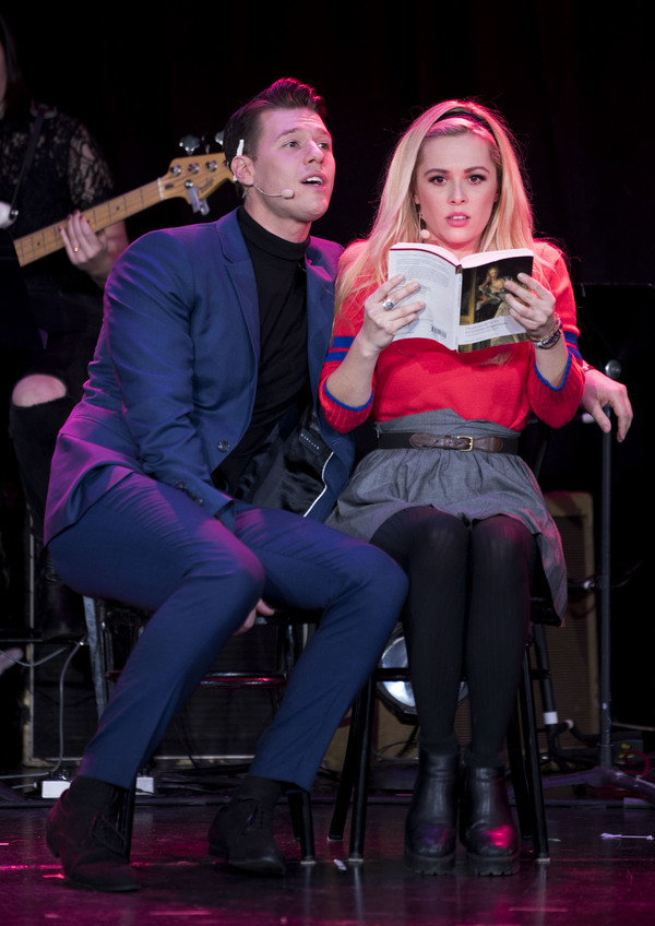 Constantine Rousouli and Natalie Hall as Sebastian and Annette