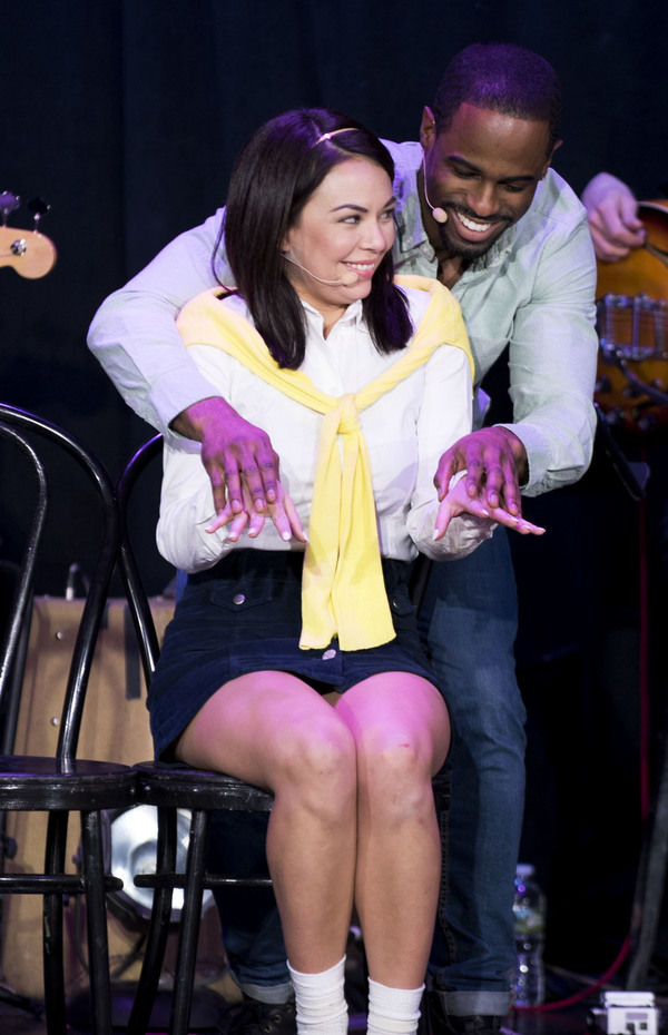 Janel Parrish and Jared Dixon as Cecile and Ronald Photo