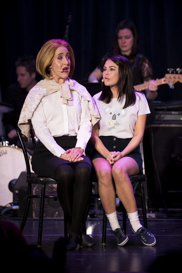 Jenn Harris and Janel Parrish as Mrs. Caldwell and Cecile