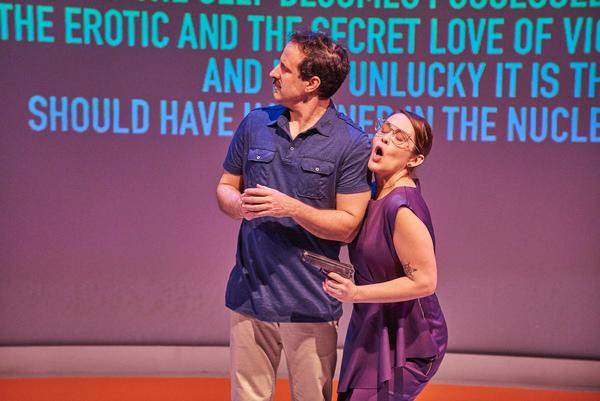 Dan Triandiflou and Amber Nash