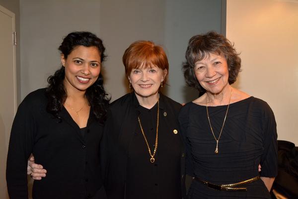 Jolly Abraham, Blair Brown and Maggie Buchwald Photo