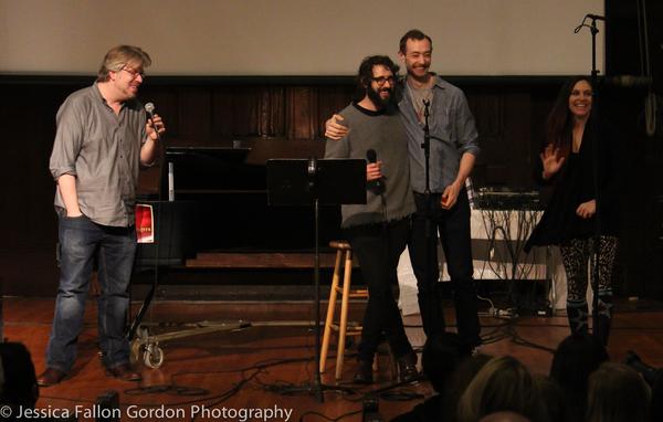 Dave Malloy, Josh Groban, Alex Gibson and Katrina Yaukey