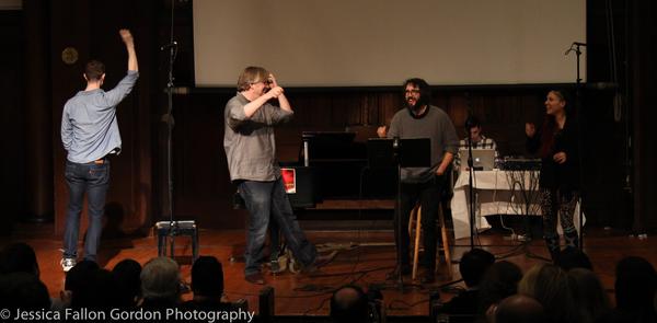 Alex Gibson, Dave Malloy, Josh Groban and Katrina Yaukey