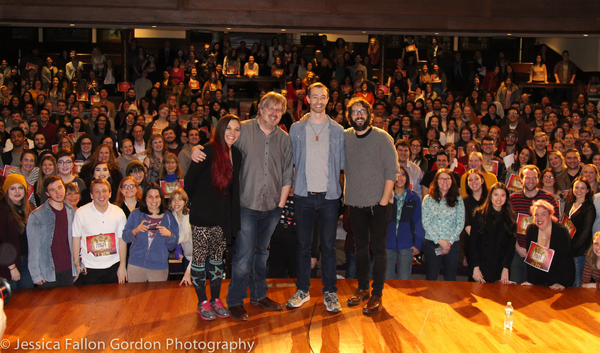 Katrina Yaukey, Dave Malloy, Alex Gibson, Josh Groban and the fans