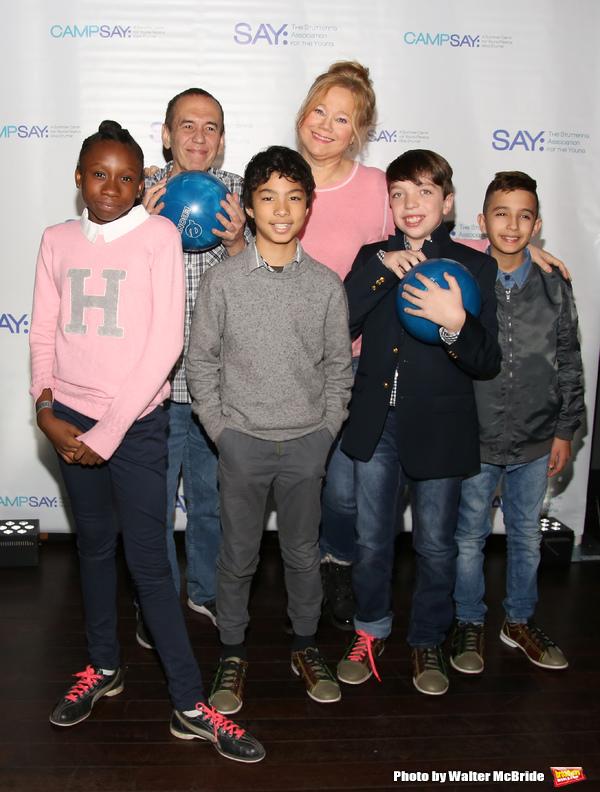 Gilbert Gottfried and Caroline Rhea with the (SAY) kids  Photo