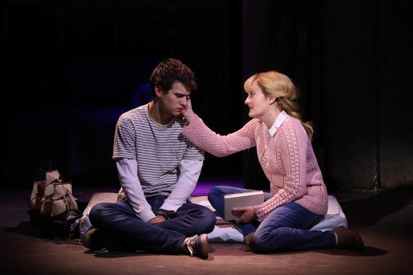 Brandon Flynn and Laura Darrell