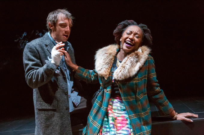 Max Gordon Moore and Nana Mensah in MAN FROM NEBRASKA (Photo: Joan Marcus)