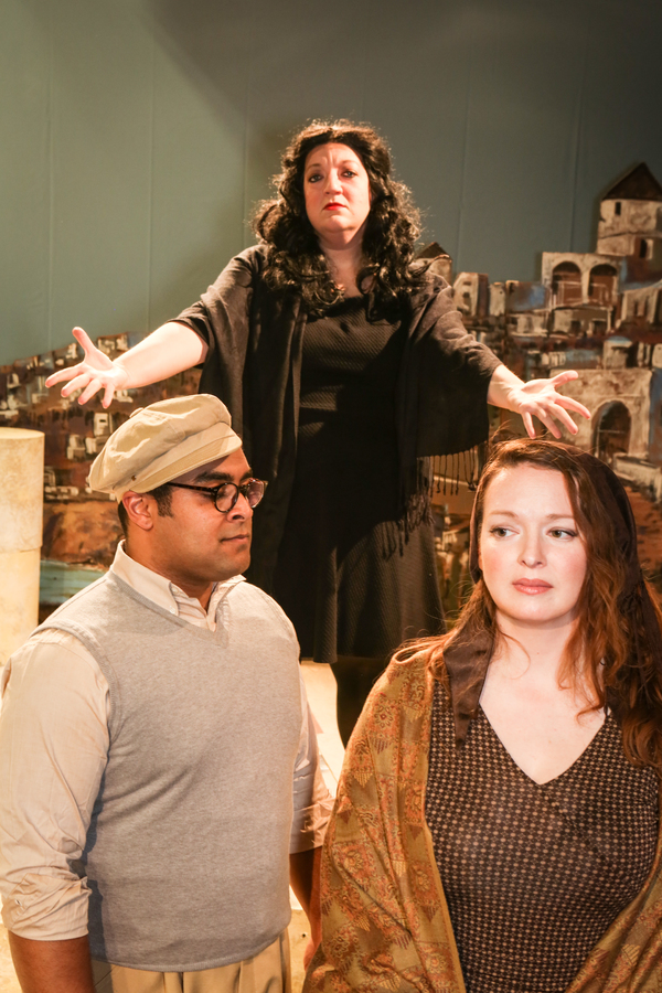 "Lindsey Jones as ""the Leader"" (in back), Dominic Dowdy-Windsor as Nikos, and Ann Hier Photo"