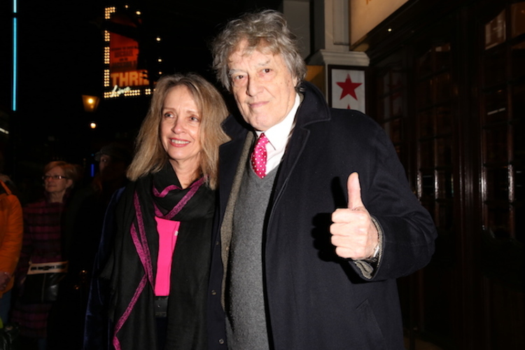 High Res Sabrina Guinness and Tom Stoppard