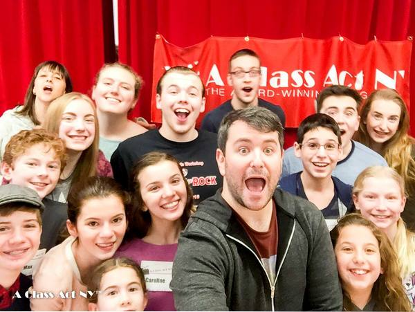 Alex Brightman and students atA Class Act NY's audition technique workshop