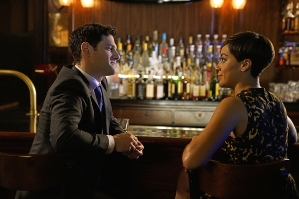 Justin Bartha as Colin, Cush Jumbo as Lucca Quinn. Photo: Patrick Harbron/CBS