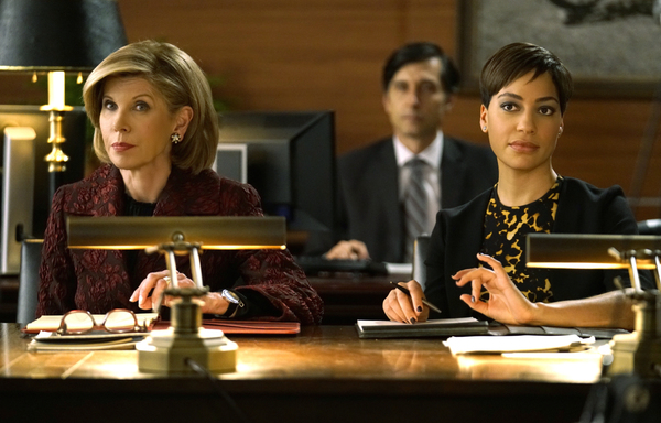 Christine Baranski as Diane Lockhart, Cush Jumbo as Lucca Quin. Photo: Patrick Harbron/CBS